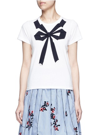 Main View - Click To Enlarge - Marc Jacobs - Bow appliqué T-shirt