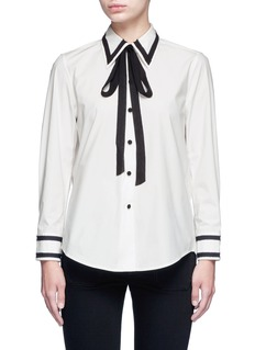 Marc JacobsSilk trim neck tie cotton shirt