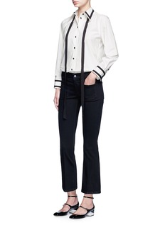 MARC JACOBS Silk trim neck tie cotton shirt