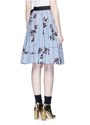 Back View - Click To Enlarge - Marc Jacobs - Floral gingham print flared skirt
