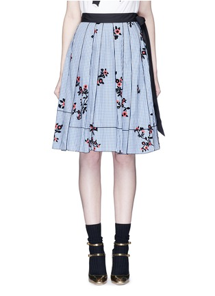 Main View - Click To Enlarge - Marc Jacobs - Floral gingham print flared skirt