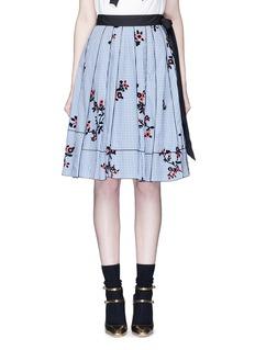 Marc JacobsFloral gingham print flare skirt