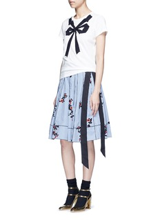 Marc Jacobs Floral gingham print flare skirt