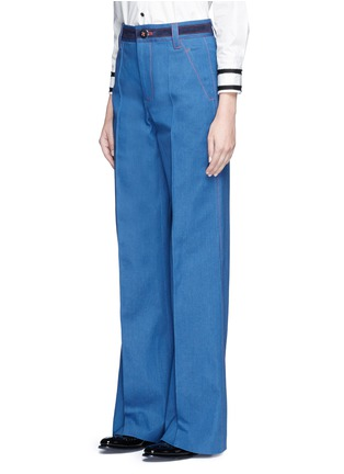 Front View - Click To Enlarge - Marc Jacobs - Wide leg denim pants
