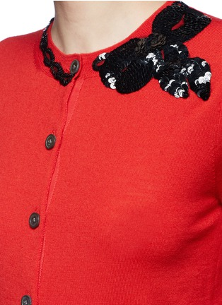Detail View - Click To Enlarge - Marc Jacobs - Sequin bow embellished wool cardigan