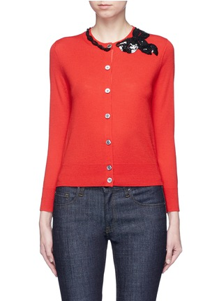 Main View - Click To Enlarge - Marc Jacobs - Sequin bow embellished wool cardigan