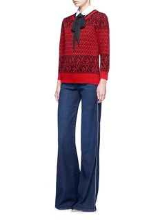 Marc Jacobs Intarsia wool blend knit sweater