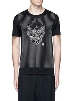 Skull stitch embroidery T-shirt