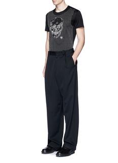 Alexander McQueenSkull stitch embroidery T-shirt