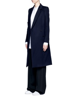 Ports 1961 Oversized pocket felted virgin wool-cashmere coat