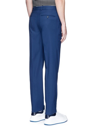 Back View - Click To Enlarge - Alexander McQueen - Wool hopsack pants