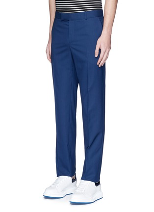 Front View - Click To Enlarge - Alexander McQueen - Wool hopsack pants