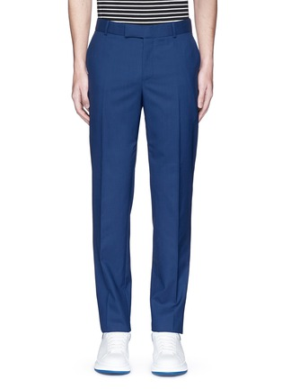 Main View - Click To Enlarge - Alexander McQueen - Wool hopsack pants