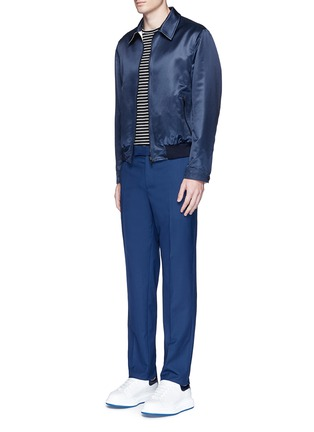Figure View - Click To Enlarge - Alexander McQueen - Wool hopsack pants