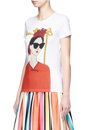 Front View - Click To Enlarge - alice + olivia - 'Stacey Frida' print T-shirt