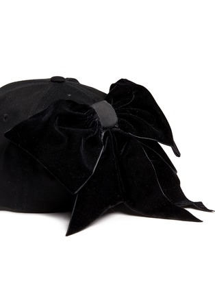 Detail View - Click To Enlarge - Piers Atkinson - Velvet bow baseball cap