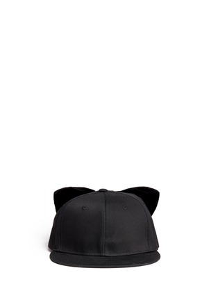 Main View - Click To Enlarge - Piers Atkinson - Velvet bow baseball cap