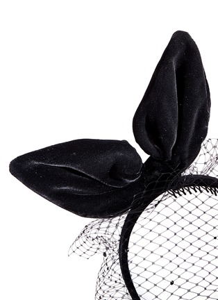 Detail View - Click To Enlarge - Piers Atkinson - Velvet bow veil headband