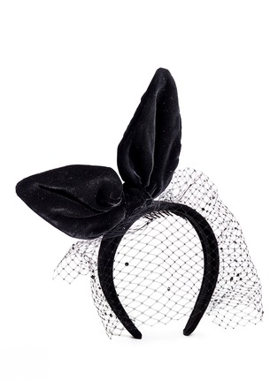 Figure View - Click To Enlarge - Piers Atkinson - Velvet bow veil headband
