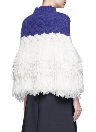 背面 - 点击放大 - DELPOZO - 层次流苏拼色混羊驼毛套头针织衫