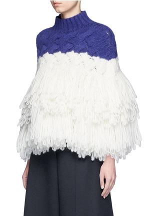 正面 -点击放大 - DELPOZO - 层次流苏拼色混羊驼毛套头针织衫