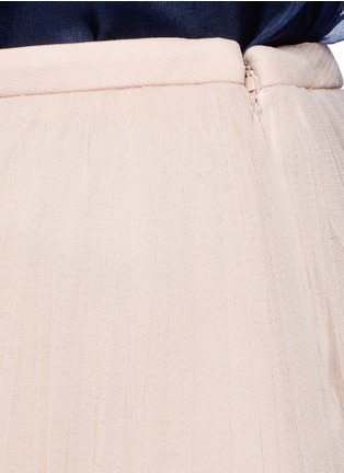 Detail View - Click To Enlarge - DELPOZO - Tulle organza combo maxi skirt