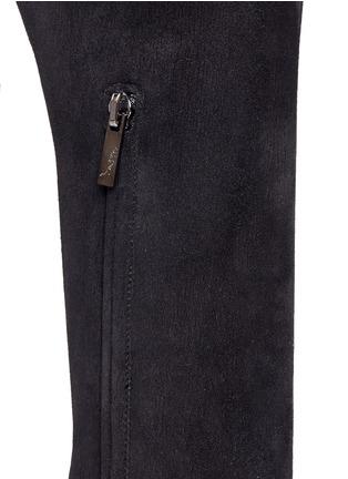 细节 - 点击放大 - RENÉ CAOVILLA - 仿水晶弹性绒面皮过膝长靴