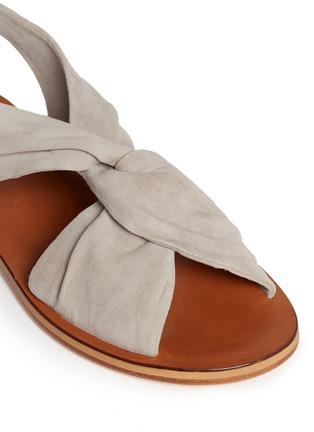 Detail View - Click To Enlarge - 10 Crosby Derek Lam - 'Pell' twist suede slingback sandals