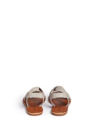Back View - Click To Enlarge - 10 Crosby Derek Lam - 'Pell' twist suede slingback sandals