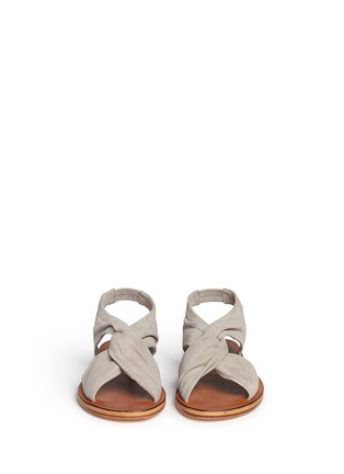 Front View - Click To Enlarge - 10 Crosby Derek Lam - 'Pell' twist suede slingback sandals