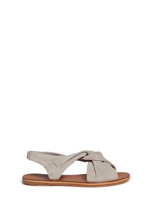 Main View - Click To Enlarge - 10 Crosby Derek Lam - 'Pell' twist suede slingback sandals