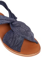 'Pell' twist denim effect suede slingback sandals