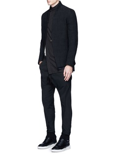 Song for the Mute Slim fit raw seam neoprene track pants