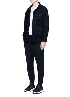 Song for the Mute Rib cuff wool gabardine track pants