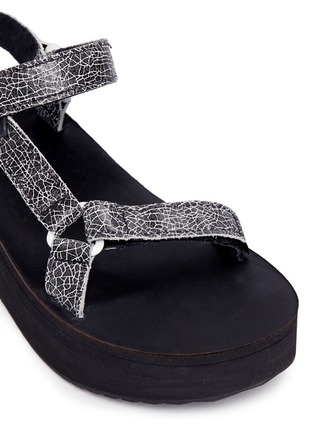Detail View - Click To Enlarge - Teva - 'Flatform Universal Crackle' leather sandals