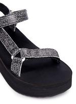 'Flatform Universal Crackle' leather sandals