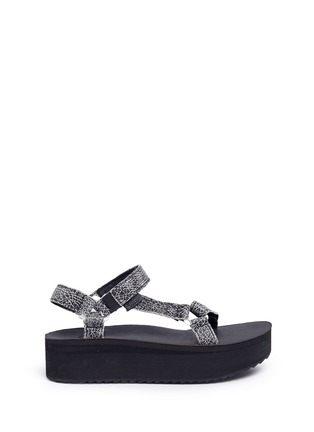 Main View - Click To Enlarge - Teva - 'Flatform Universal Crackle' leather sandals