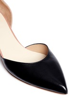 Colourblock leather suede d'Orsay pumps