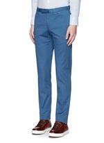 Slim fit cotton jacquard pants