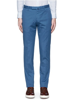 Incotex-Slim fit cotton jacquard pants