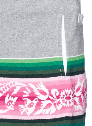 Detail View - Click To Enlarge - Sacai - Baja floral stripe intarsia sweat shorts