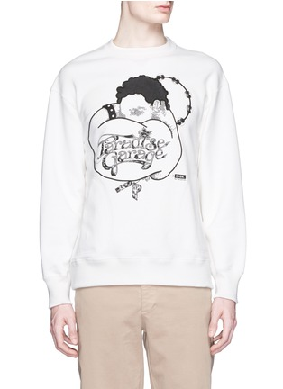 Sacai - 'Paradise Garage' embroidery French terry sweatshirt