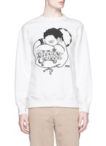 'Paradise Garage' embroidery French terry sweatshirt