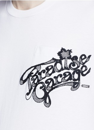 Detail View - Click To Enlarge - Sacai - 'Paradise Garage' embroidery sweatshirt T-shirt