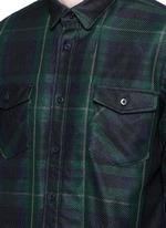 Buffalo check extended underlay shirt