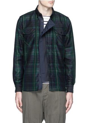 Main View - Click To Enlarge - Sacai - Buffalo check extended underlay shirt