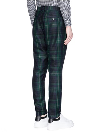 Back View - Click To Enlarge - Sacai - Tartan plaid pleated pants