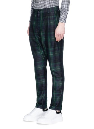 Front View - Click To Enlarge - Sacai - Tartan plaid pleated pants