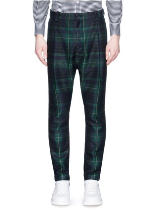 Main View - Click To Enlarge - Sacai - Tartan plaid pleated pants