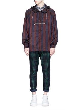 Figure View - Click To Enlarge - Sacai - Tartan plaid pleated pants